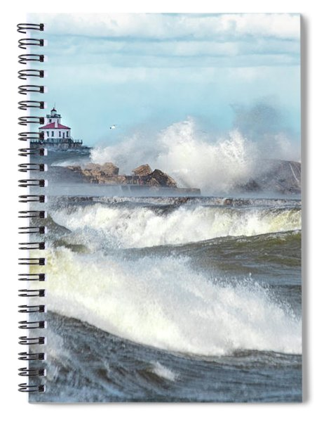Spiral Notebook featuring the photograph Winds Of November by Rod Best