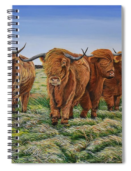 Windswept Highland Cattle  Spiral Notebook