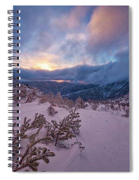 Windswept, Spring Sunrise In Tuckerman Ravine Spiral Notebook