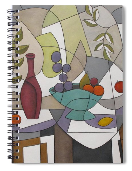 Wine And Fruit Spiral Notebook