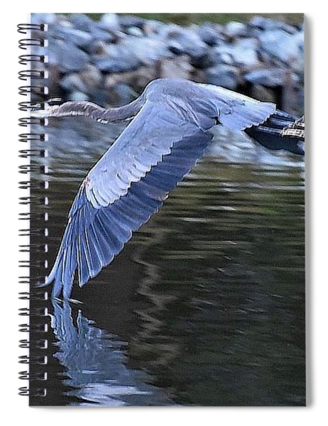 Wing Touching Water Spiral Notebook