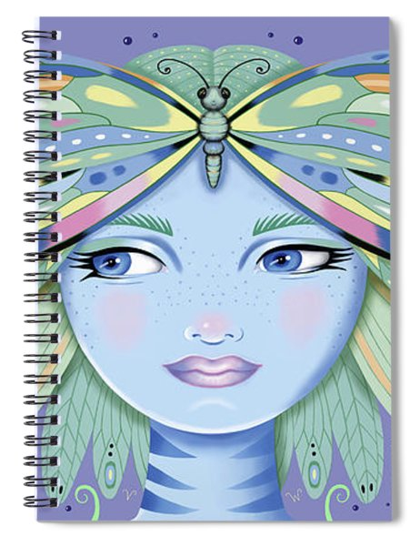 Insect Girl, Winga - Purple Spiral Notebook