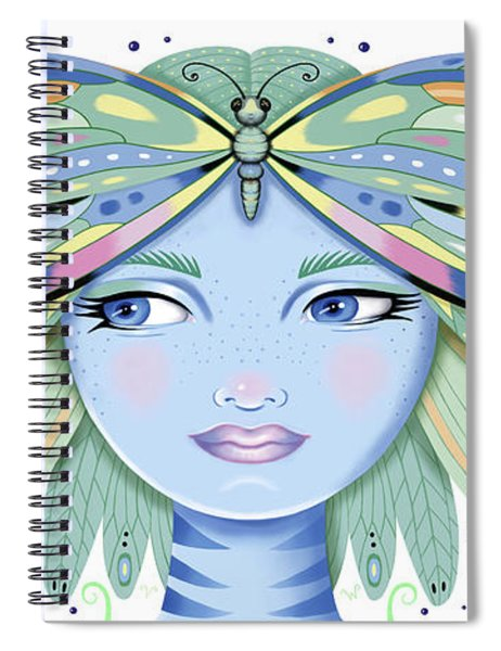Insect Girl, Winga - White Spiral Notebook