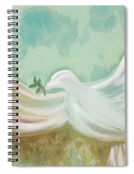 Wings Of Peace Spiral Notebook