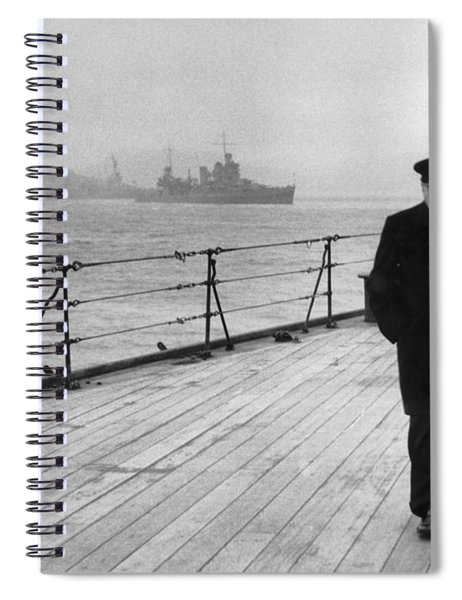 Winston Churchill At Sea Spiral Notebook