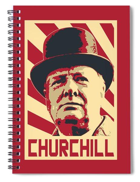 Winston Churchill Propaganda Pop Art Spiral Notebook