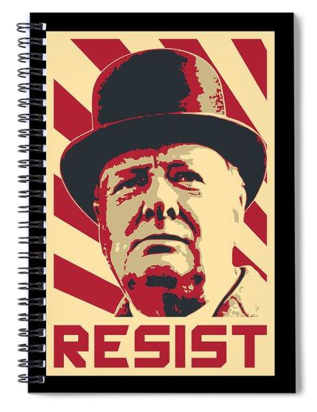 Winston Churchill Resist Spiral Notebook