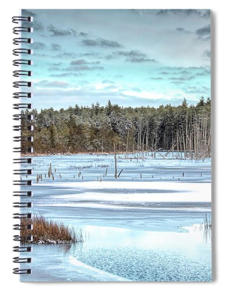 Winter At Lake Oswego Spiral Notebook
