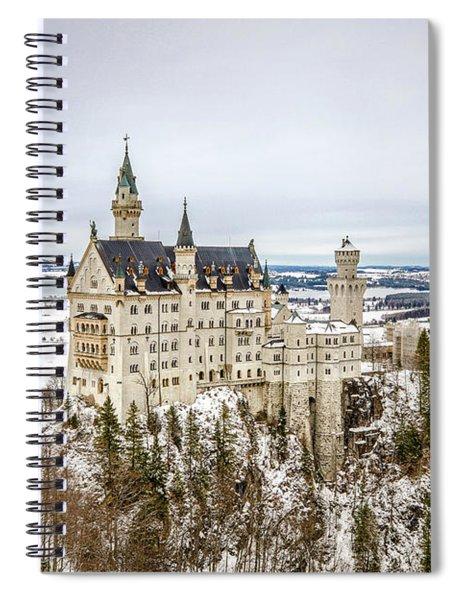 Winter At Neuschwanstein Castle Spiral Notebook