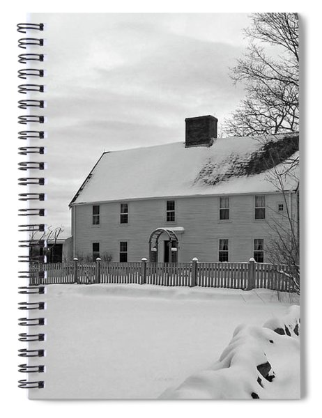 Winter At Noyes House Spiral Notebook