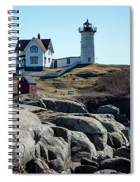 Winter At Nubbles Spiral Notebook