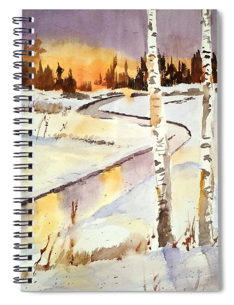 Winter Birch Spiral Notebook