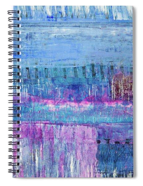 Winter Blues 3 Spiral Notebook