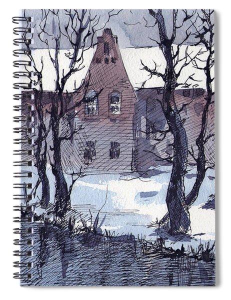 Winter Bruges Spiral Notebook