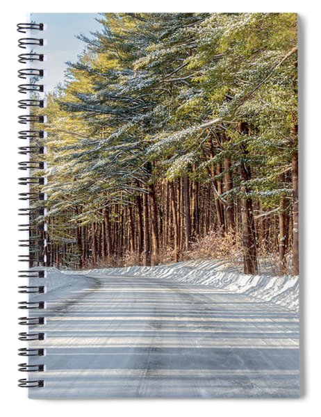 Spiral Notebook featuring the photograph Winter Drive by Rod Best