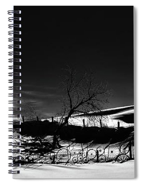 Winter Fence Lines Spiral Notebook