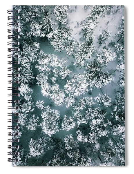 Winter Forest - Aerial Photography Spiral Notebook