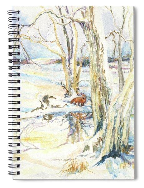 Winter Fox Spiral Notebook
