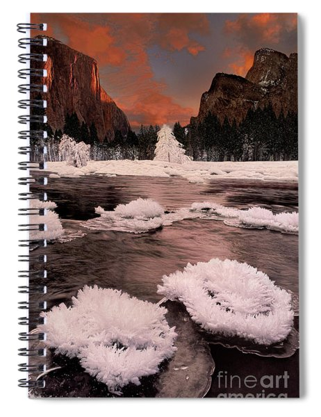 Winter Gates Of The Valley Yosemite National Park Cal Spiral Notebook
