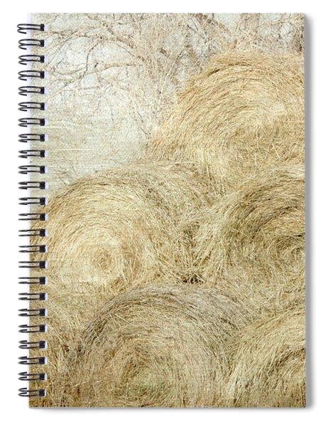 Winter Hay Stack Spiral Notebook