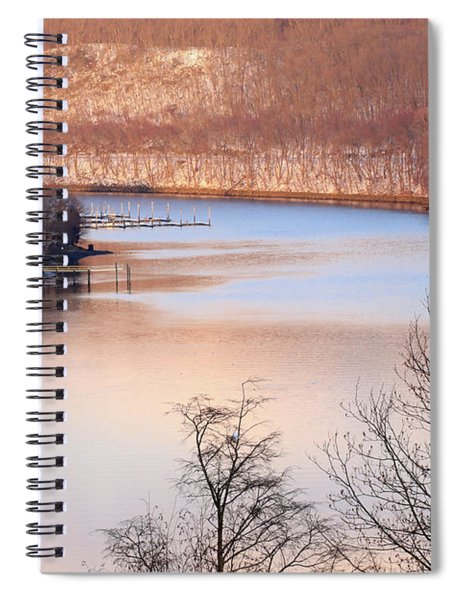 Winter In Pink And Blue Spiral Notebook