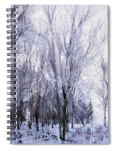 Winter Lace Spiral Notebook