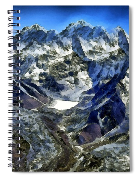 Winter Landscape In The Mountains Spiral Notebook