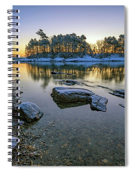 Winter Morning In Wolfe's Neck Woods Spiral Notebook