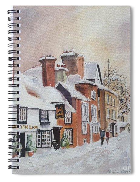 Winter On The Bayle. Folkestone Spiral Notebook