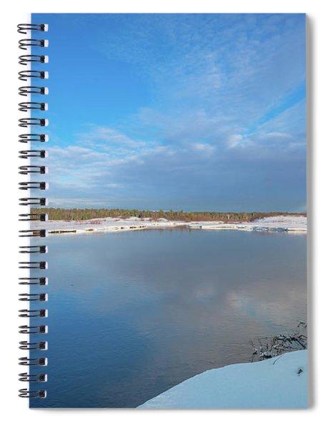 Winter On The Sucker River Spiral Notebook