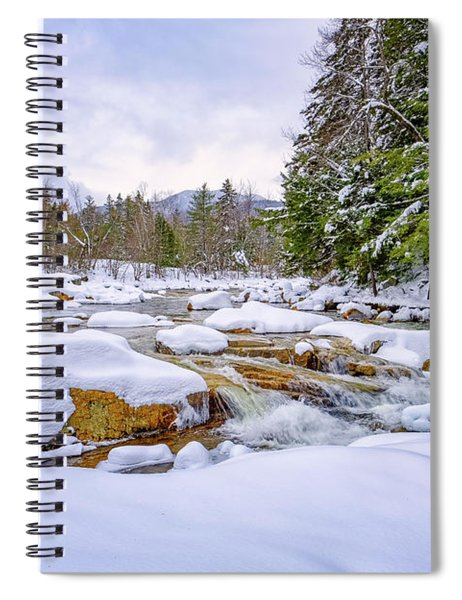 Winter On The Swift River. Spiral Notebook