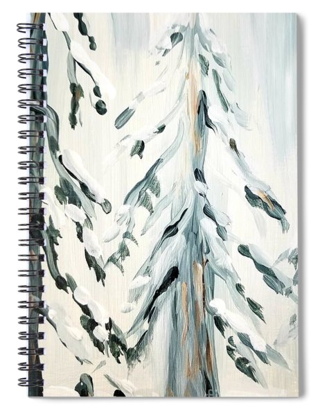 Winter Trees #4 Spiral Notebook by Maria Langgle