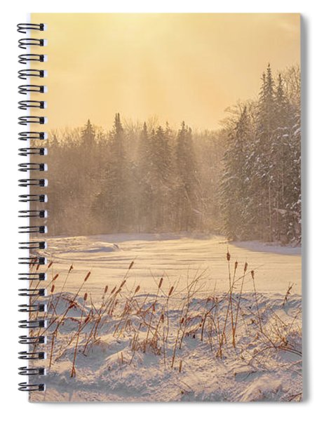 Spiral Notebook featuring the photograph Winter Vermont Style by Rod Best