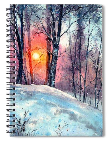 Winter Woodland In The Sun Spiral Notebook
