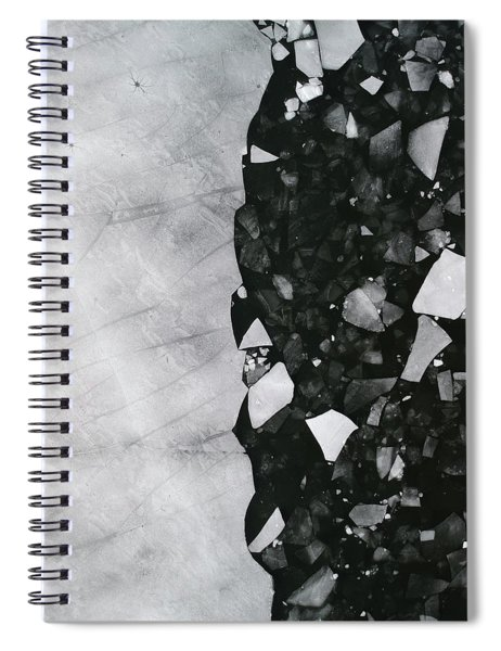 Winters Edge - Aerial Photography Spiral Notebook