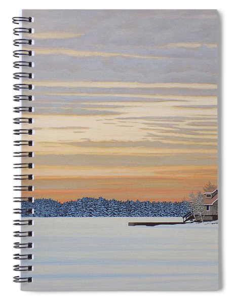 Winters Warm Embrace Spiral Notebook
