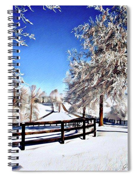 Wintry Lane Spiral Notebook