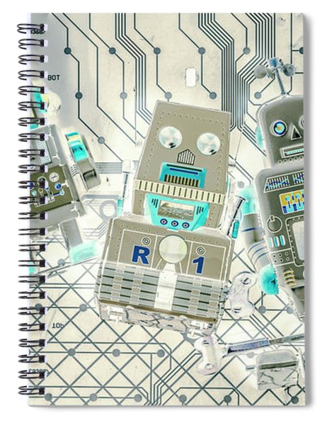 Wired Intelligence Spiral Notebook