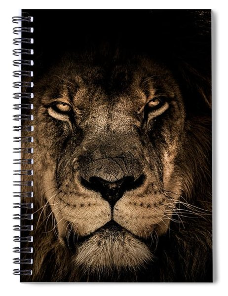 Wise Lion Spiral Notebook