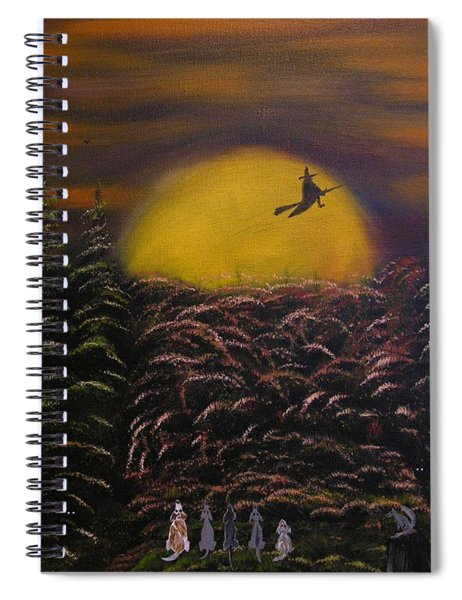 Witch At Night Spiral Notebook