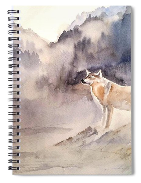 Wolves On Guard Spiral Notebook