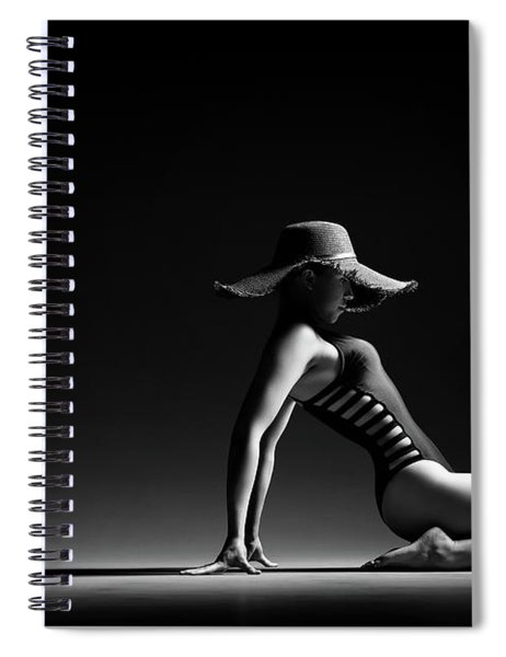 Woman In Black Costume Spiral Notebook