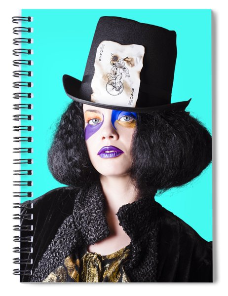 Woman In Joker Costume Spiral Notebook