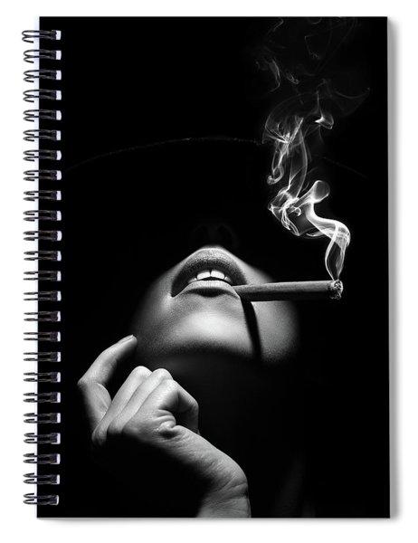Woman Smoking A Cigar Spiral Notebook