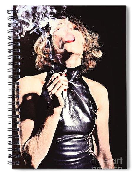 Woman Smoking A Cigarette Spiral Notebook