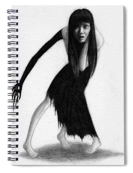 Woman With The Black Arm Of Demon Ghost - Artwork Spiral Notebook