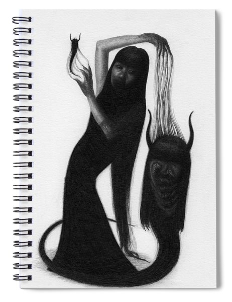Woman With The Demon's Fingers - Artwork Spiral Notebook
