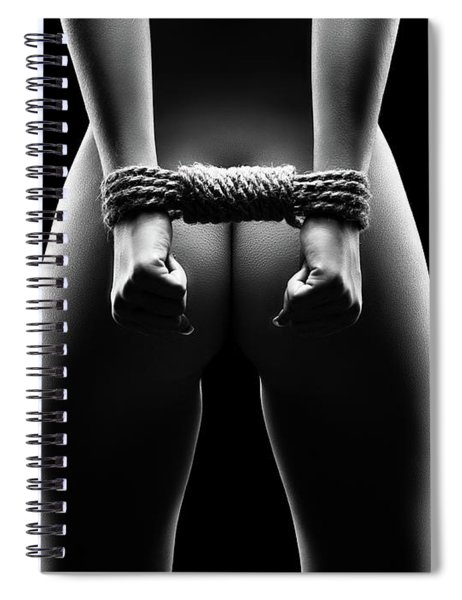 Woman's Hands In Bondage Spiral Notebook