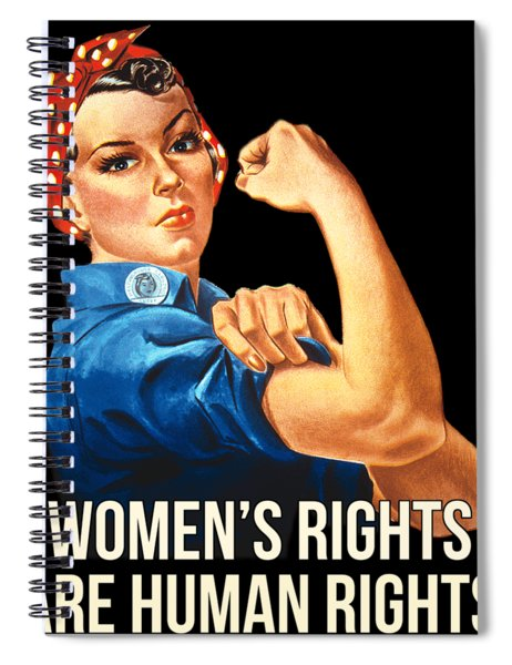 Womens Rights Are Human Rights Tshirt Spiral Notebook