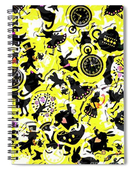 Wonderland Design Spiral Notebook